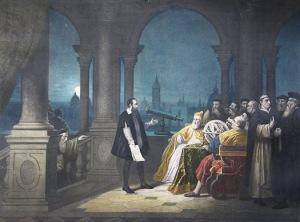 "Galileo on trial.  Things got ""physic-al."" Bazing"
