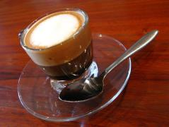 This is a macchiato.  It is small. It has no room for caramel. Deal with it.