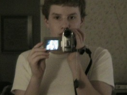 My first and only video camera.  Also me at age....14?