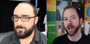 Michael Stevens (left) and Mike Rugnetta (right)