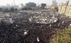 Tahrir Square yesterday. THAT is a lot of people. Photo credit Reuters.